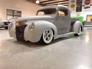 This 1940 Ford Pickup will be revealed at SEMA 2013 in the NAPA/Martin Senour booth, #10627, on November 6, 2013 at 10 am.